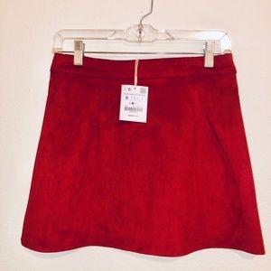 ZARA Cute New Red Mini Skirt